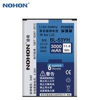 Nohon 3000 mah bl-53yh batería del teléfono móvil para lg g3 d830 F400 D857 D858 D859 D855 D851 D850 VS985 F460 F470 batería