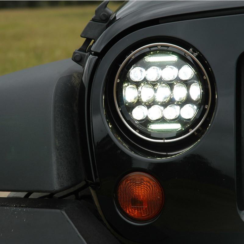 2PCS/Pair 75W High Low Beam Auto Car Light Source LED Headlight Bulb For JEEP Wrangler Super Bright White LED Lamp