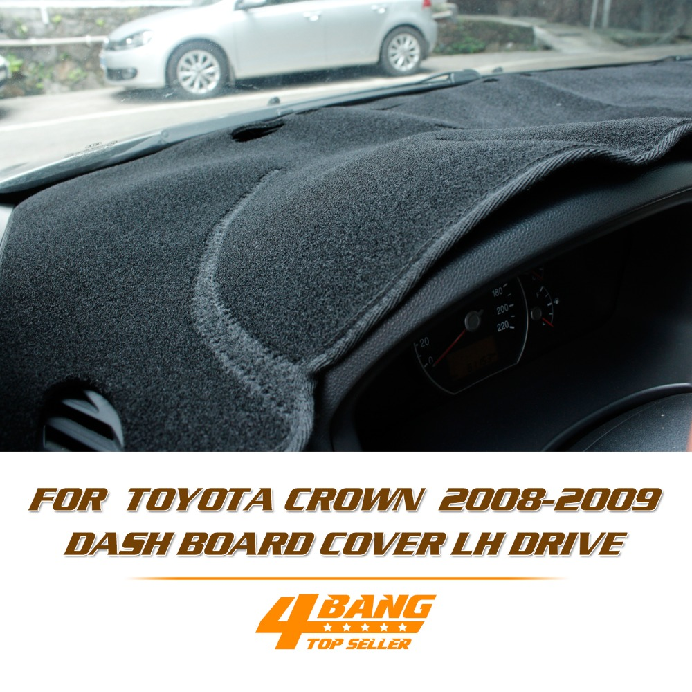 High Quality Car Dashboard Avoid Light Pad Instrument Platform Desk Cover Mats Carpets Auto For Toyota Crown 2008-2009