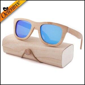 Image 2 - Oeientree חנות מפעל עץ משקפי שמש מקוטב עץ משקפיים UV400 במבוק משקפי שמש מותג עץ משקפי שמש עם מקרה עץ