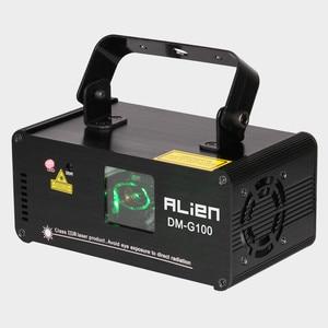 Image 2 - ALIEN DMX 100mW ירוק לייזר שלב הדלקת סורק Effcet חג המולד בר ריקוד מסיבת מופע אור DJ דיסקו לייזר מקרן אורות