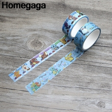 Homegaga Pocket monsters decorations kids funny album cartoon Washi tape diy Scrapbooking Adhesive Masking Printed sticker D2160