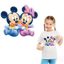 lovely mickey minnie iron on pathces for clothing transfert thermocollants transfers washable DIY girls clothes sticker