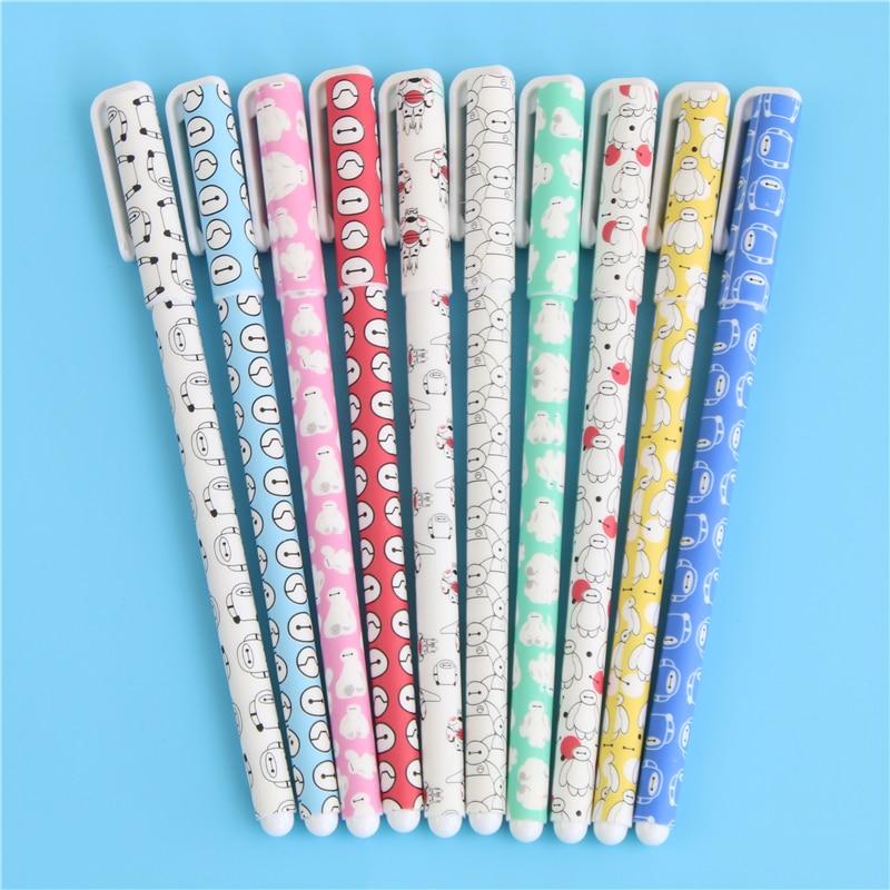 10 X Baymax Gel Pens Big Hero Ballpoint Pen Gift Canetas Material Escolar Kawaii Stationery School Supplies