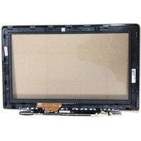 Para asus vivobook x202e x202 s200 s200e q200e tcp11f16 v1.0 digitador de vidro da tela toque b escudo borda com moldura cabo