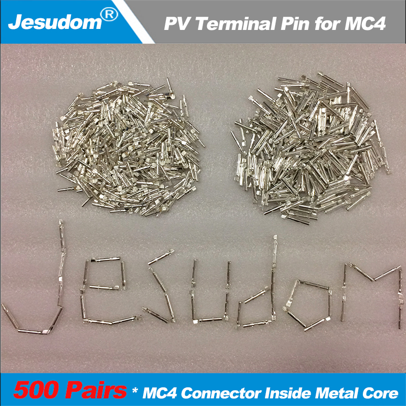 500Pairs/Lot 1000Pieces x MC4 Male and Female Pin Inside Metal Core use for Solar Cable Connect MC4 Terminal Pin for MC4-in Connectors from Lights & Lighting    1