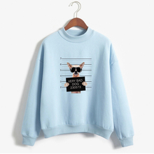 Long Sleeve Tracksuits Dog 3D Pattern Guilty Words Print Thick Hoodies