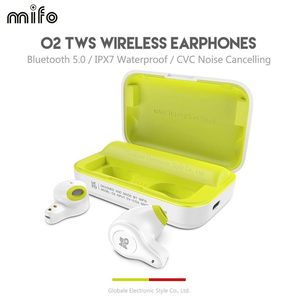 Oreillettes d'origine Mifo O2 dans l'oreille TWS Bluetooth écouteurs sans fil étanche IPX5 avec Microphone réduction du bruit pour le Jogging