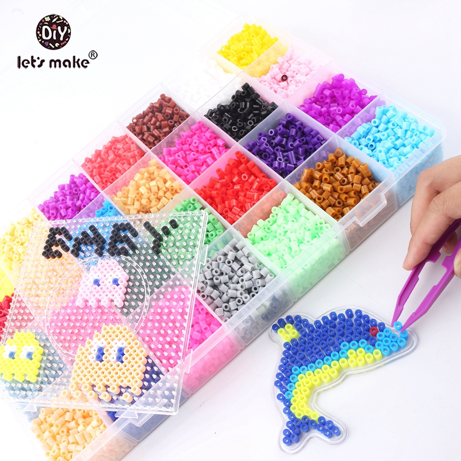 Let's Make Baby Toys 5mm Perler Beads 28 Colors Box Set Fuse Hama Beads Diy Baby Toys Baby Shower Gift Montessori Toys artkal mini beads 36 color box set funny food grade eva educational toys diy hama beads handmade gift cc36 page 2