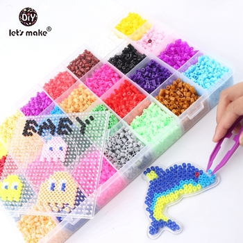 Let's Make Baby Toys 5mm Perler Beads 28 Colors Box Set Fuse Hama Beads Diy Baby Toys Baby Shower Gift Montessori Toys