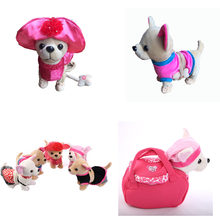 Der Chi Chi Love Zipper Electronic Dog Pet Singing Walking Musical Plush Pet Robot Dog Toys For Kids Christmas gifts(China)
