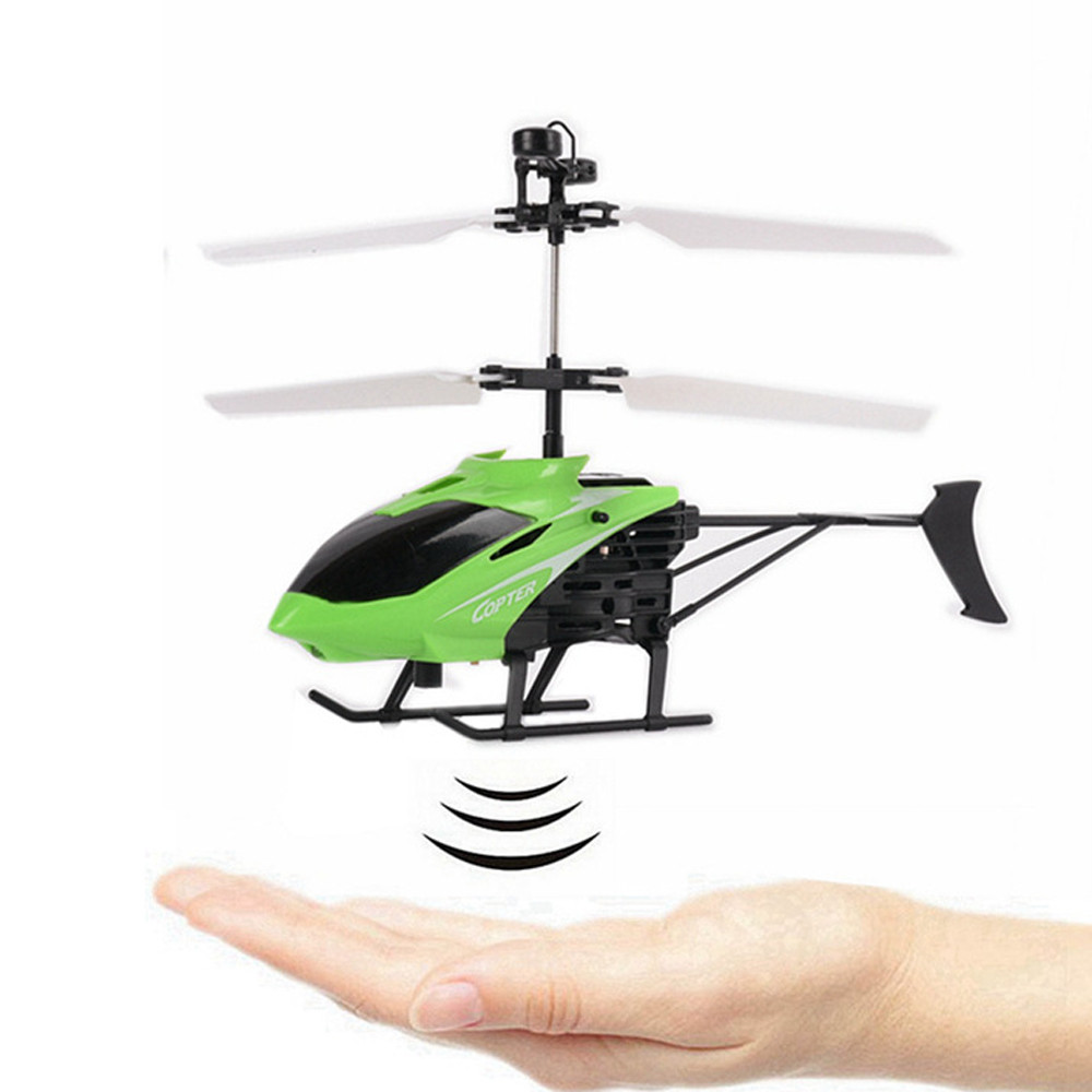 Image 3 - Flying Mini RC Infraed Induction Helicopter Aircraft Flashing Light Toy For Kids USB Charging  induction Helicopter Aircraft-in RC Helicopters from Toys & Hobbies