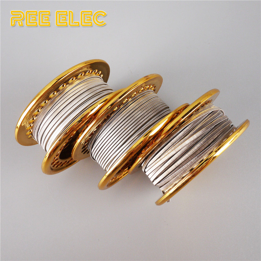 REE ELEC 5M/Roll SS316L Clapton Alien Wire High Quality Heating Wire For Electronic Cigarette RDA RTA Atomizer DIY Coils Tool
