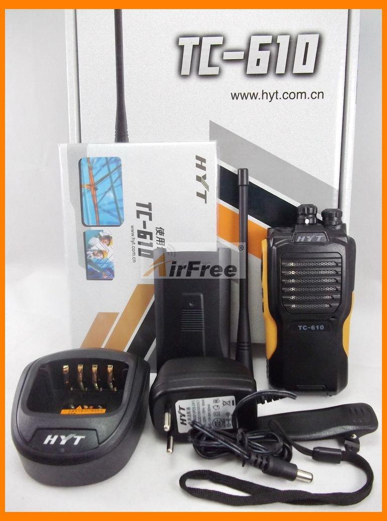 HYT TC-610 5W Portable Two Way Radio with Li-ion battery HYTERA TC610 long range Walkie Talkie UHF VHF Business RadioHYT TC-610 5W Portable Two Way Radio with Li-ion battery HYTERA TC610 long range Walkie Talkie UHF VHF Business Radio