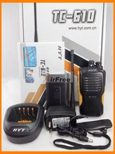 HYT TC 610 5W Portable Two Way Radio with Li ion battery HYTERA TC610 long range Walkie Talkie UHF VHF Business Radio