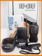 HYT TC 610 Radio bidireccional portátil con batería de ion de litio, 5W, HYTERA TC610, Walkie Talkie UHF VHF, Radio de negocios