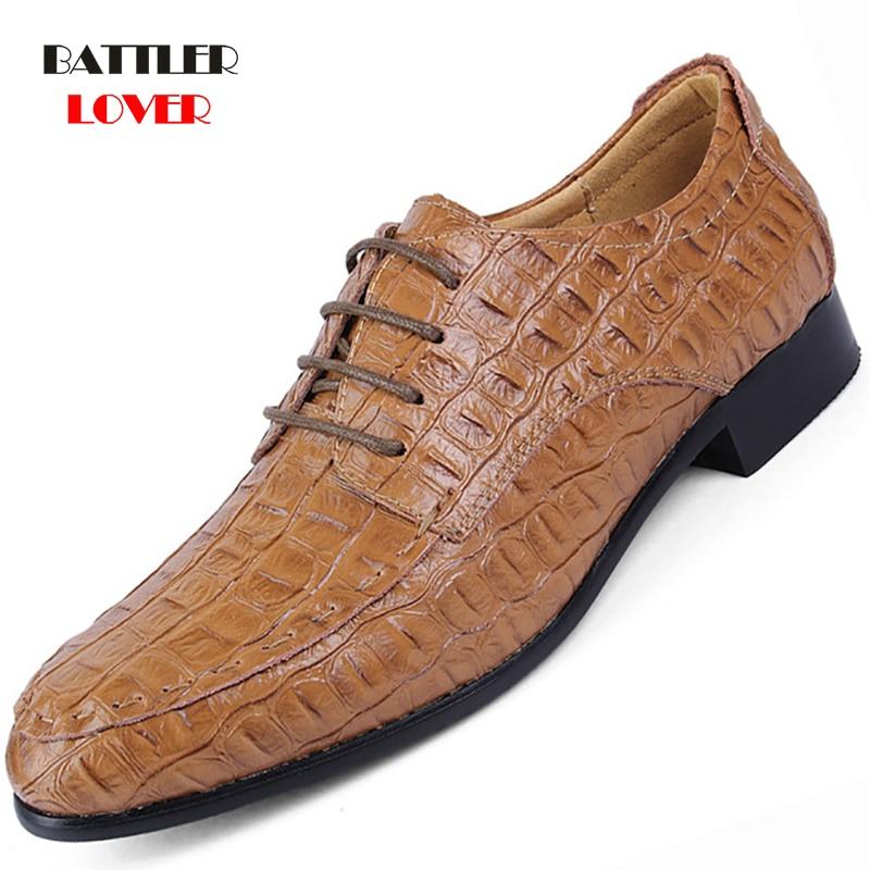Men Formal Business Brogue Shoes Luxury Men