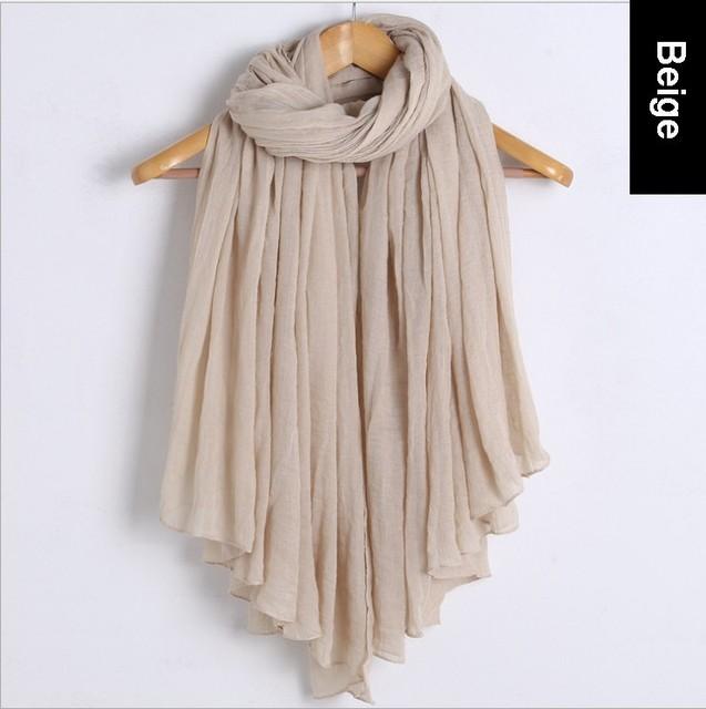 2014 nova moda outono inverno lenço de algodão Voile mulheres infinito sólido de 20 cores frete grátis
