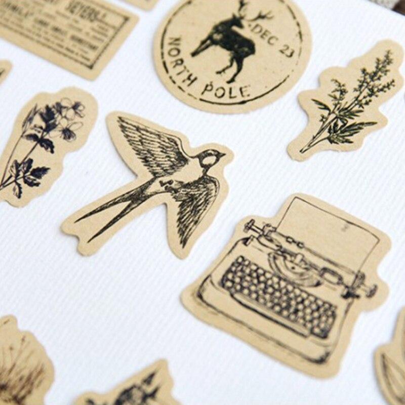 bonitos diário de papel artesanal etiqueta selagem