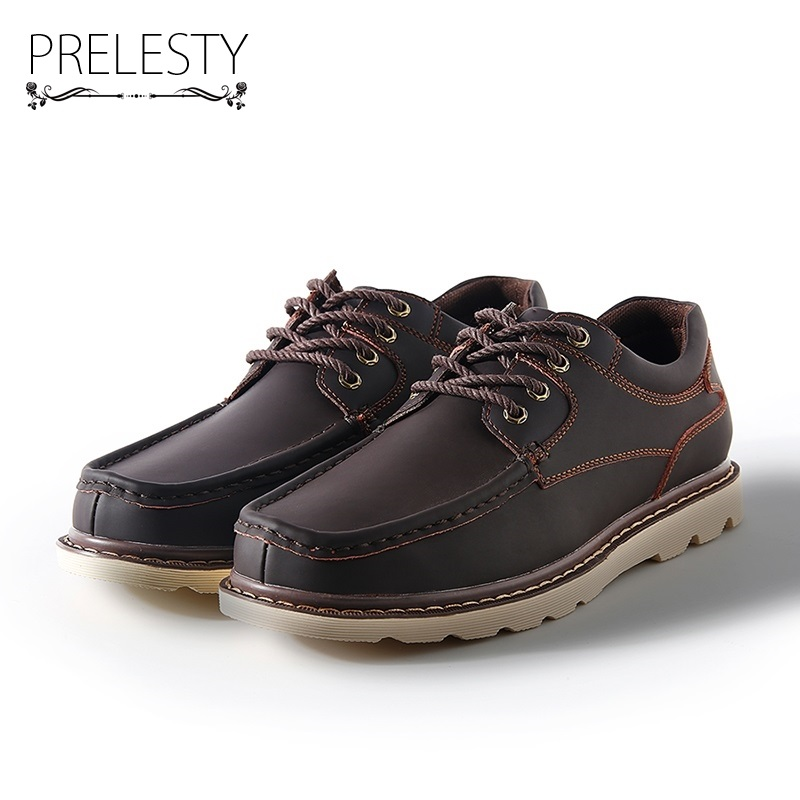 Prelesty Big Size 38-47 Winter Man Casual Shoes Male Work Safety Leather Shoes Breathable Platform Cowboy Style Lace UpPrelesty Big Size 38-47 Winter Man Casual Shoes Male Work Safety Leather Shoes Breathable Platform Cowboy Style Lace Up