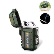มินิกันน้ำ USB Plasma ไฟแช็กชาร์จไฟแช็ก Camouflage สำหรับ Camping กลางแจ้งกระเป๋าเดินทางกีฬาบุหรี่บุหรี่ไฟแช็ก