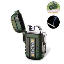 ミニ防水 USB プラズマライター充電式ライター迷彩屋外キャンプ Treval スポーツタバコ喫煙ライター