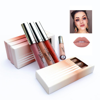 3Pcs/Lot Matte Long-lasting Lipstick Liquid 12 Colors Waterproof Lip Gloss 3.5gx3 Lips Makeup Brand AIGOMC