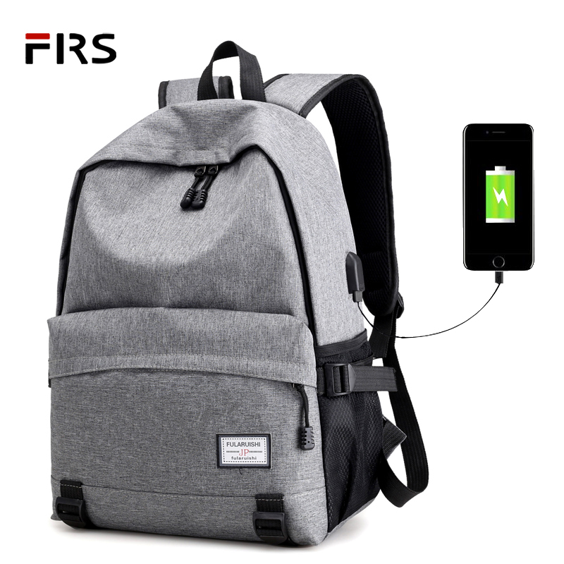 FLRS New Men Male Canvas Backpack College Student School Backpack Bags for Teenagers Vintage Mochila Casual Rucksack Travel Day 2018 men male canvas backpack college student school backpack bags teenagers vintage mochila casual rucksack travel usb daypack