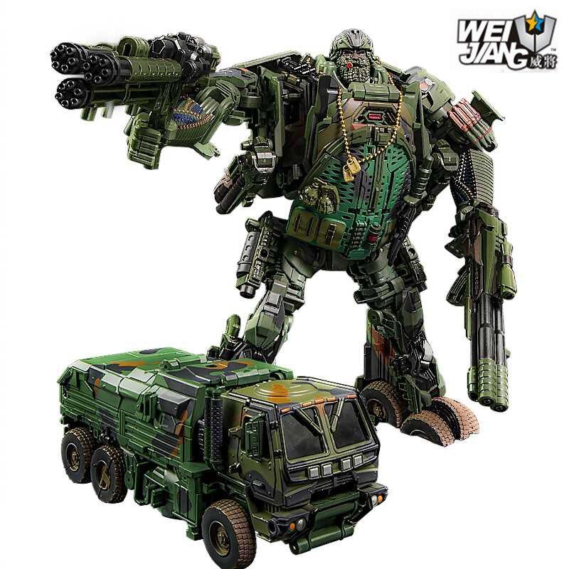 وي جيانغ كلب MS02 التحول سيارة روبوت TF5 المتضخم سبائك المعادن جزء عمل الشكل الدخان المحقق نماذج من الشاحنات الاطفال لعبة-في شخصيات دمى وحركة من الألعاب والهوايات على  مجموعة 1