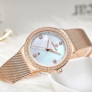 Image 4 - Nova naviforce mulheres marca de luxo relógio simples quartzo senhora relógio de pulso à prova dfemale água moda feminina relógios casuais reloj mujer