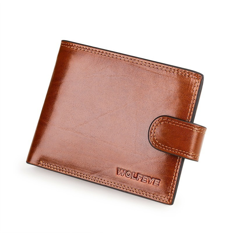 Brown Italian Cattle Neckline Real Genuine Leather Wallet Men ID Credit Card Holder Coin Purses Portomonee Portefeuille Carteras цена