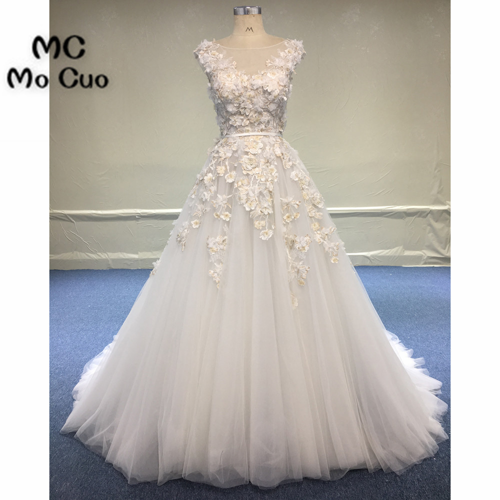 Illusion Wedding Dresses 2018 Ball Bridal Gowns Cap Sleeves ...