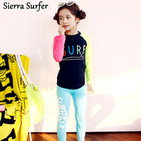 Of The New Summer Children S Swimsuit Fashion Cartoon Split Two Sets Of Long Sleeved