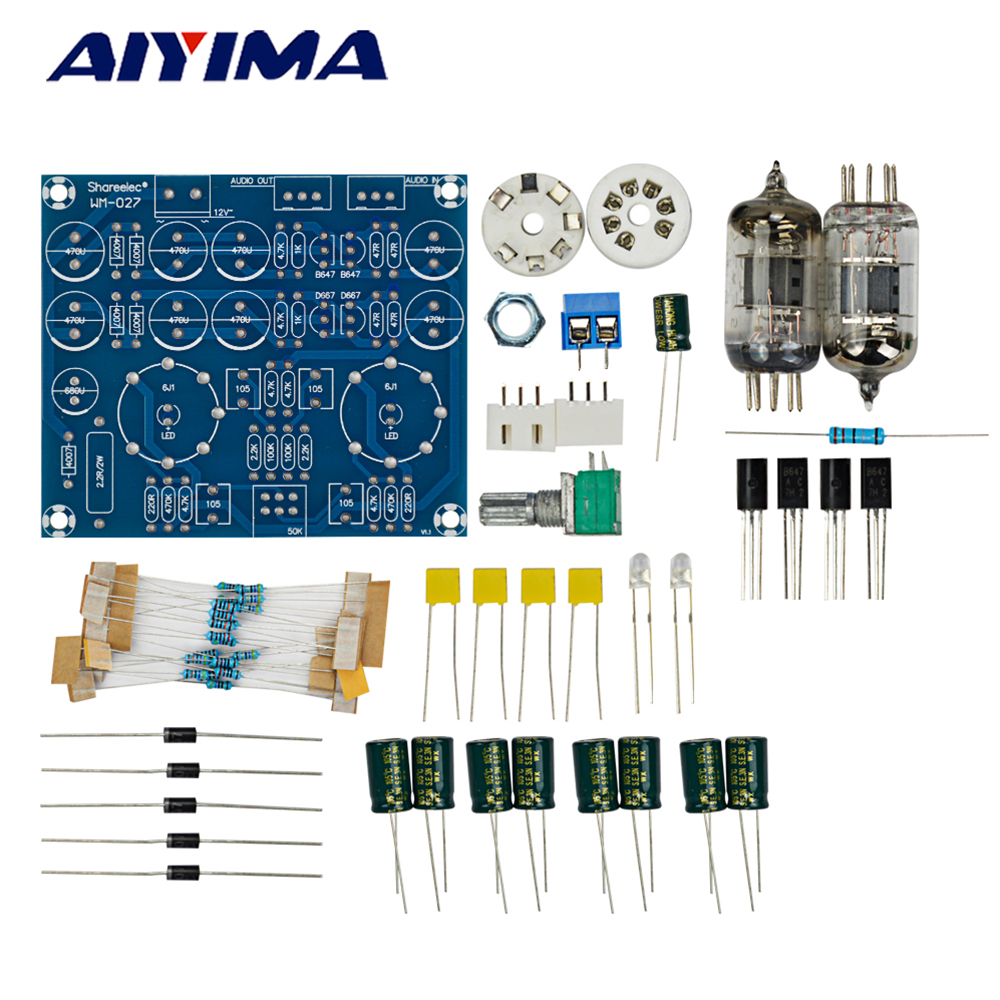 Aiyima Tube Amplifiers Audio Board Diy Kits Amplificador Fever Class How To Build Headphone A Amplifier 6j1 Preamplifier In From Consumer