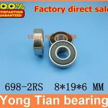 Высокое качество Миниатюрный подшипник нержавеющей стали SS698-2RS 698 S698-2RS S698RS S698RZ R-1980HH 8*19*6 мм 440C материал