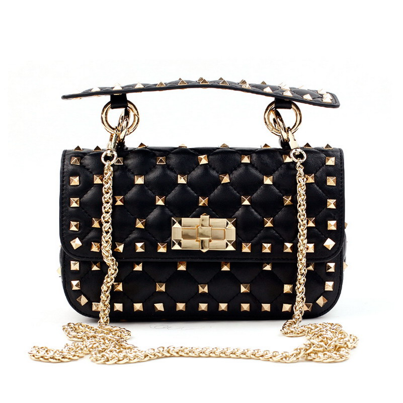 Luxury Handbags Women Bags Designer New Rivet Clutch Tote Bag Sheepskin Famous Brands Chains Shoulder Bags Messenger Bag Women new retro velvet small cover flap pocket bag quilted women shoulder bag designer clutch chain messenger bags famous brands