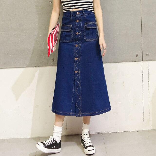 4300af85252999 Nieuwe Mode vrouwen denim rokken