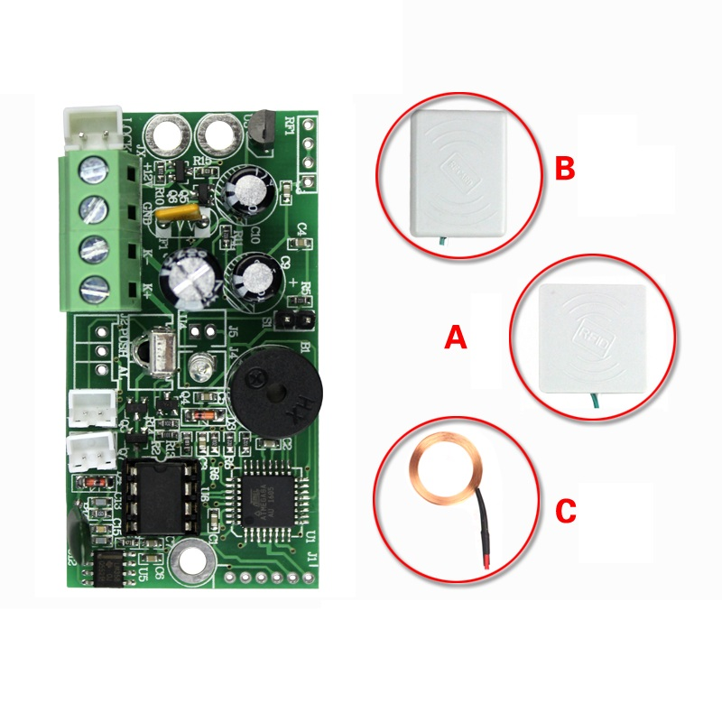 125khz RFID Module Embedded Control Board for small electric locks mini access controller relay output Fail Secure rfid intercom embedded access control 13 56mhz ic module controller 2000 user