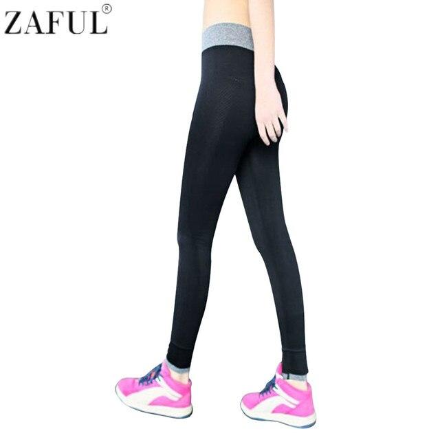 ZAFUL Vente Chaude Femmes Taille Haute Yoga Pantalons Sport Leggings  Fitness Gym Mince Collants Moulante Couleur be9cc59c83b