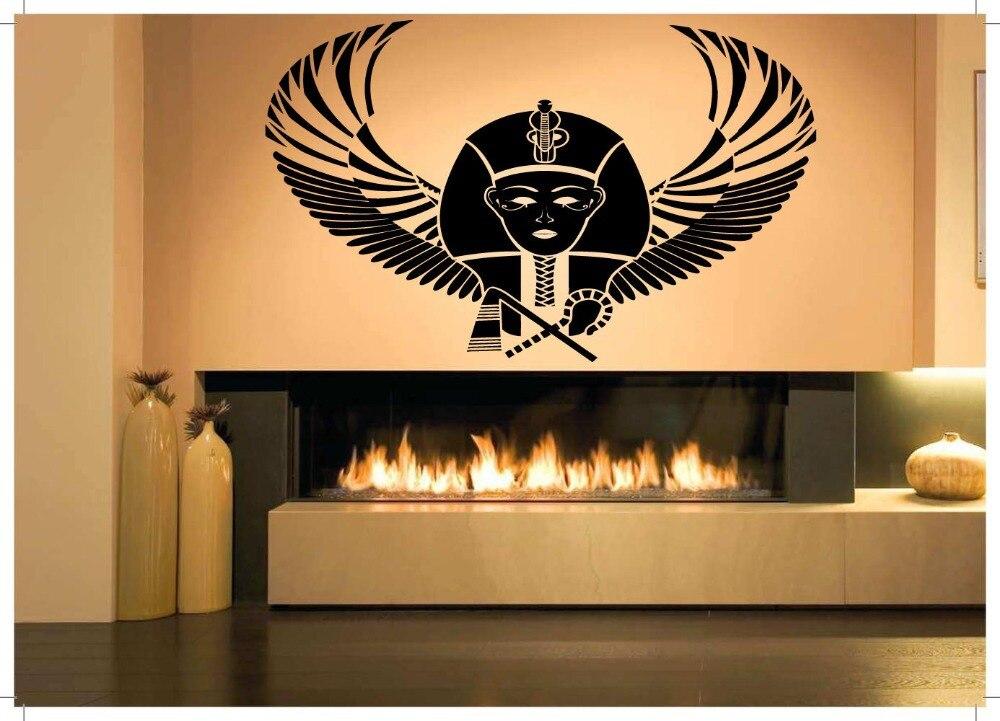 New Arrival Egypt Vinyl Wall Decal Pharaoh King Egypt Large Mural Art Wall Sticker Living Room