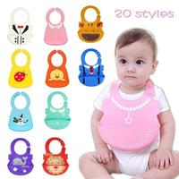 Silicone Baby Bibs Bandana Waterproof Meals Pocket Bib Waterproof Feeding Newborn Infant Apron Adjustable Baby Girl