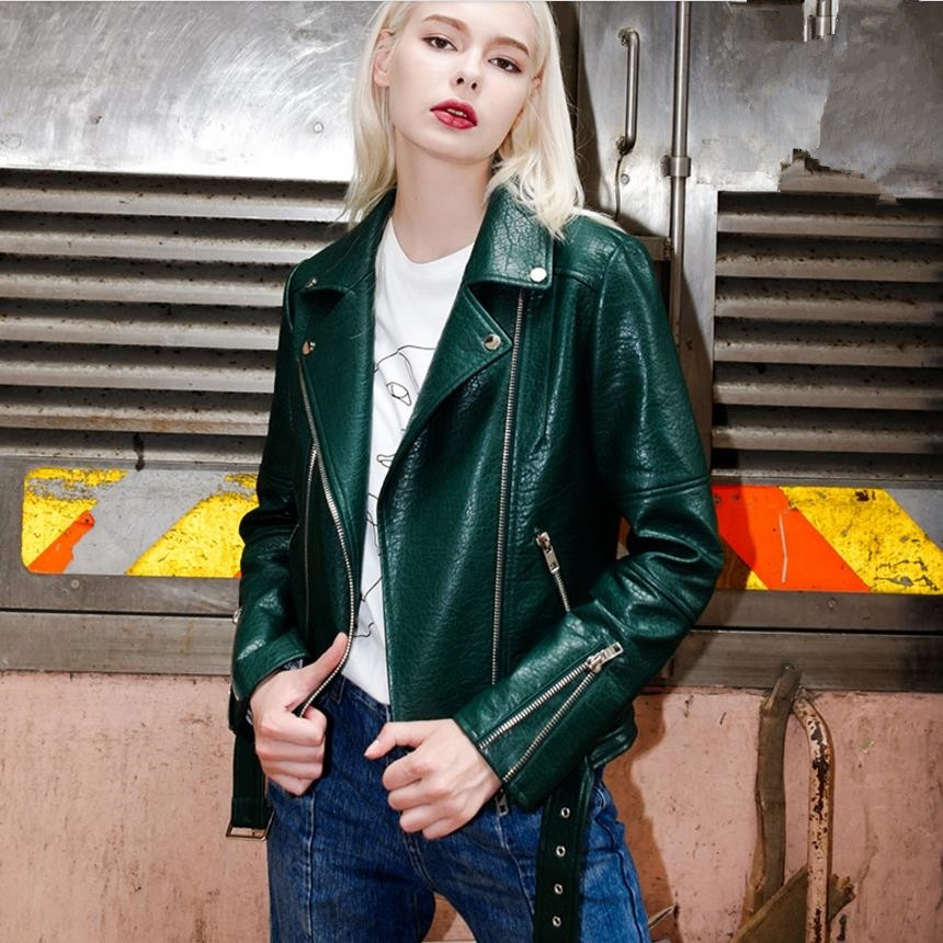 Brand hot selling high quality women Faux   Leather   jackets 2019 autumn new fashion Streetwear style female PU coats gx1208