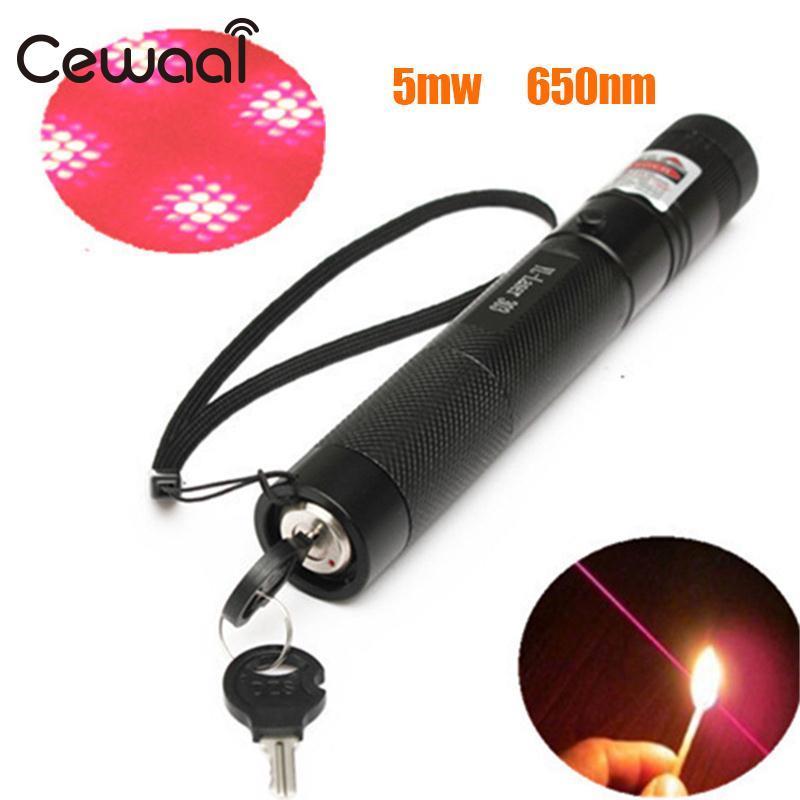 Cewaal NEW G303 red Laser Pointer Pen Beam 650nm Adjustable Focus + Light Cap Black US