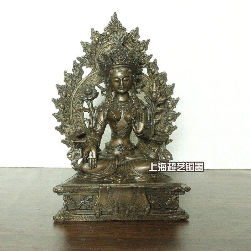 White Tara Buddha Statue Handmade Copper