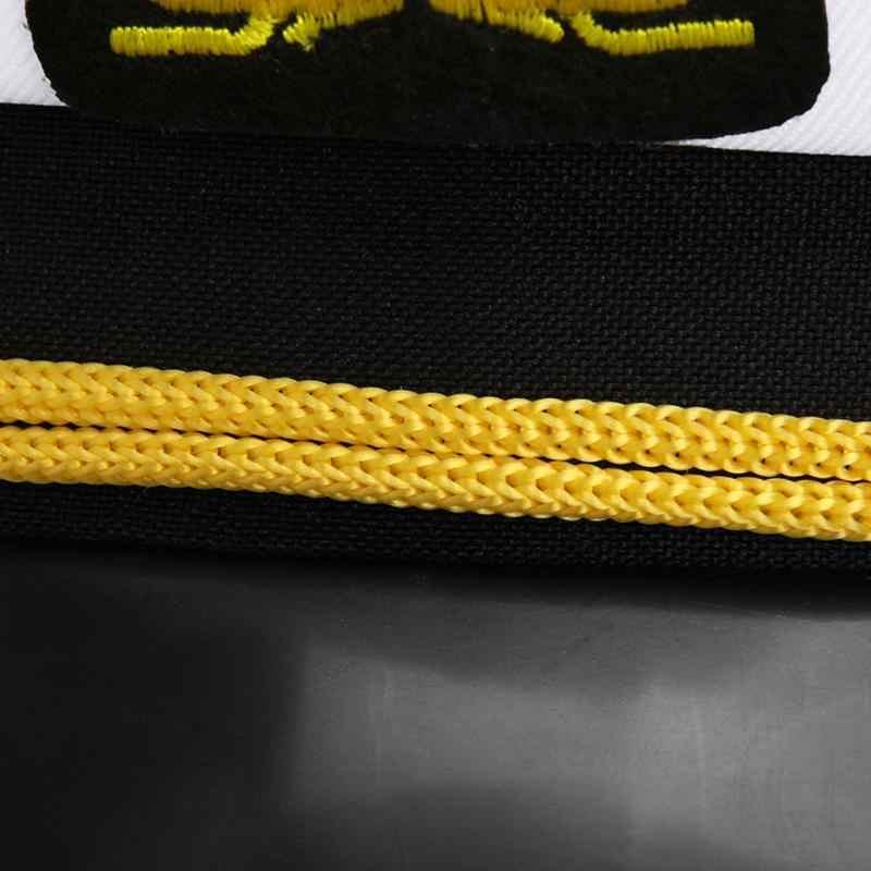 موضة للجنسين البحرية الكابتن القوارب قبعة عسكرية خمر الأبيض الطفر البحارة الكبار زي حفلة تنكرية تأثيري قبعة قبعة