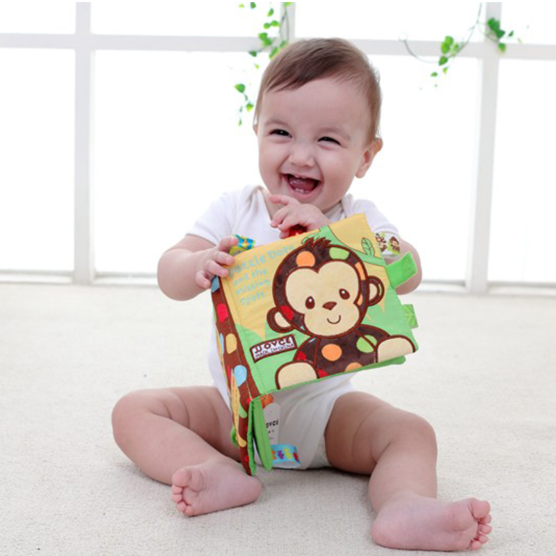 3 Style Educational Baby Toys Rattles Soft Cloth Books Rustle Sound Stroller Rattle Toy Crib Bed Baby Toys Newborns Gift DS19