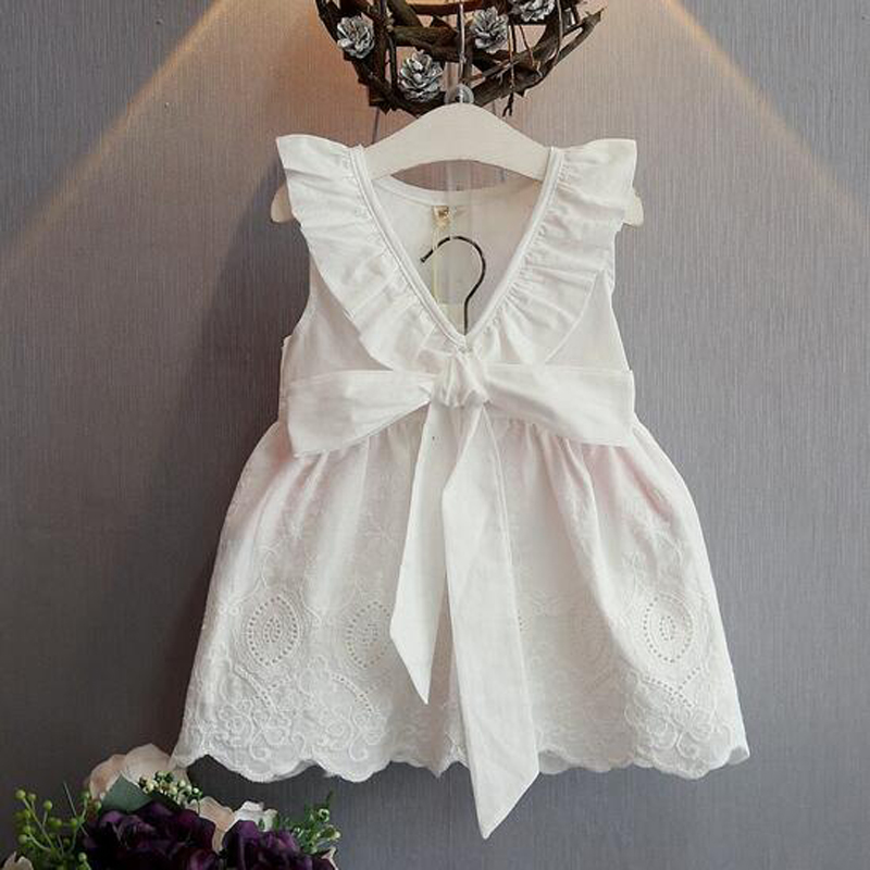 Kids Infant Girl Bow Lace Dress Children Bridesmaid Toddler Elegant Dress Pageant Vestido Infantil Tulle Formal