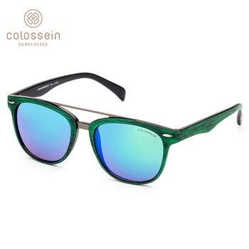42fb11d735 COLOSSEIN gafas de sol de las mujeres ronda 2019 moda Retro espejo gafas de  sol de la marca de los hombres diseñadores al aire libre UV400 oculos de sol  ...