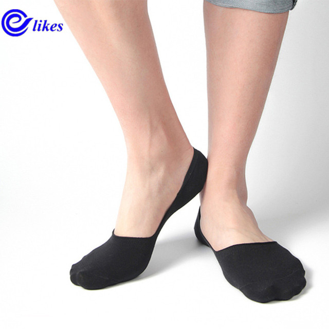 e4c80fdd4f71 3Pairs Mens Bamboo Invisible Ankle Socks Men Summer Casual Loafer Moccasins  No Show Socks Male Black