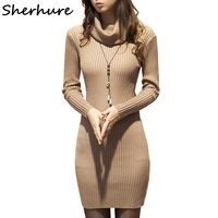 Sherhure 2018 Women Sweater And Pullovers Turtleneck Women Bodycon Sweater Women Christmas Sweater Pull Femme Winter Sweater